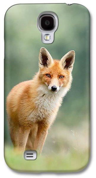 Curious Fox Galaxy S4 Case by Roeselien Raimond