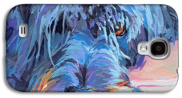Puppies Galaxy S4 Cases - Curl Galaxy S4 Case by Kimberly Santini