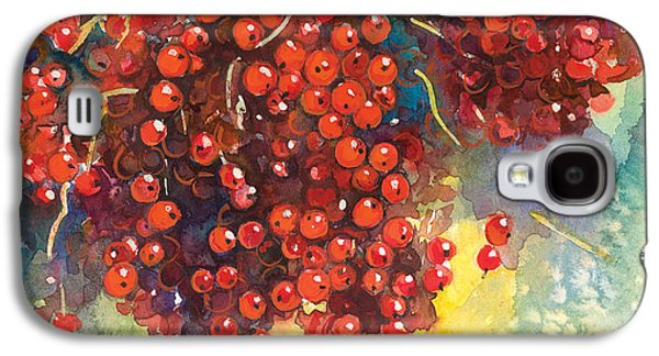 Watercolor Drawings Galaxy S4 Cases - Currants berries painting Galaxy S4 Case by Svetlana Novikova