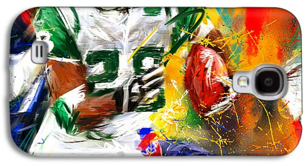 Curtis Martin New York Jets Galaxy S4 Case by Lourry Legarde