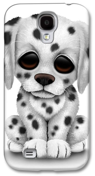 Puppy Digital Galaxy S4 Cases - Cute Dalmatian Puppy Dog Galaxy S4 Case by Jeff Bartels