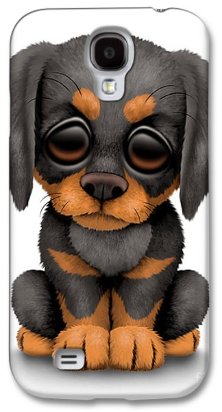 Puppy Digital Galaxy S4 Cases - Cute Doberman Puppy Dog Galaxy S4 Case by Jeff Bartels