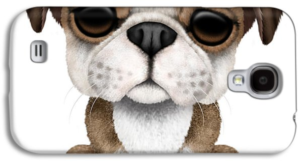 Puppy Digital Galaxy S4 Cases - Cute English Bulldog Puppy  Galaxy S4 Case by Jeff Bartels