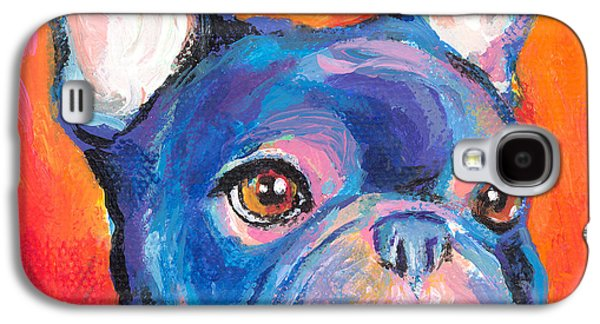 Cute Puppy Galaxy S4 Cases - Cute French bulldog painting prints Galaxy S4 Case by Svetlana Novikova