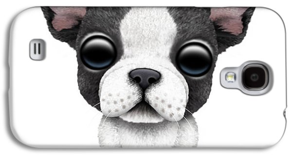 Puppy Digital Galaxy S4 Cases - Cute French Bulldog Puppy  Galaxy S4 Case by Jeff Bartels
