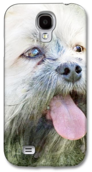 Dogs Digital Galaxy S4 Cases - Cutie Galaxy S4 Case by Beatrice Myers
