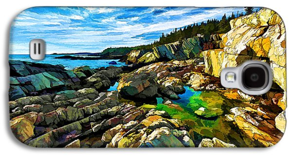 Photo Manipulation Galaxy S4 Cases - Cutler Coast at Fairy Head - Painterly Galaxy S4 Case by Bill Caldwell -        ABeautifulSky Photography