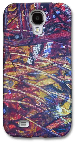 Etc. Paintings Galaxy S4 Cases - Cutting Through Galaxy S4 Case by Karen Butscha