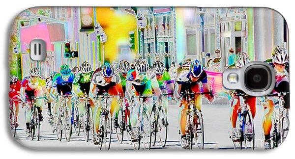 Athlete Digital Galaxy S4 Cases - Cycling Down Main Street USA Galaxy S4 Case by Vicki Pelham