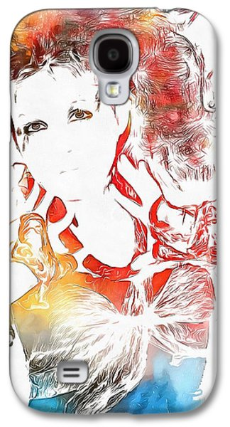 Cyndi Lauper Watercolor Galaxy S4 Case by Dan Sproul