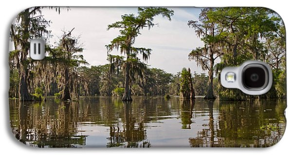 Cypress Swamp Galaxy S4 Cases - Cypress Trees and Spanish Moss in Lake Martin Galaxy S4 Case by Louise Heusinkveld