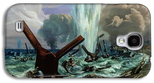 Explosion Galaxy S4 Cases - D Day Galaxy S4 Case by Orville Norman Fisher