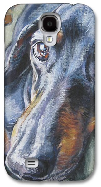 Dog Paintings Galaxy S4 Cases - Dachshund black and tan Galaxy S4 Case by L A Shepard