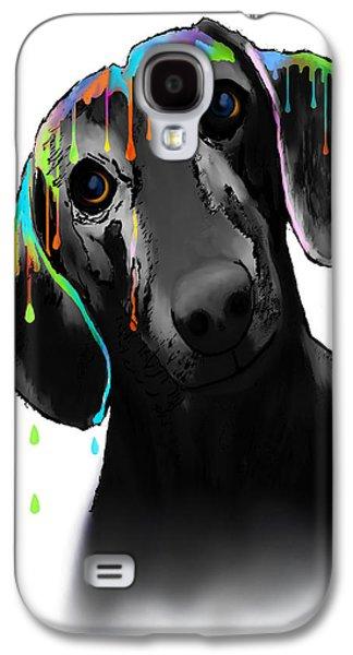 Dachshund Digital Galaxy S4 Cases - Dachshund Galaxy S4 Case by Marlene Watson