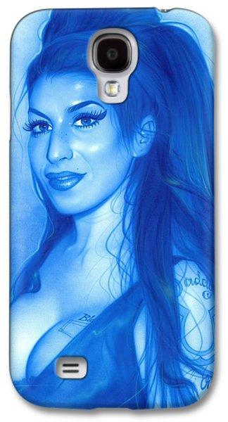 Amy Winehouse - 'daddy's Girl' Galaxy S4 Case by Christian Chapman Art