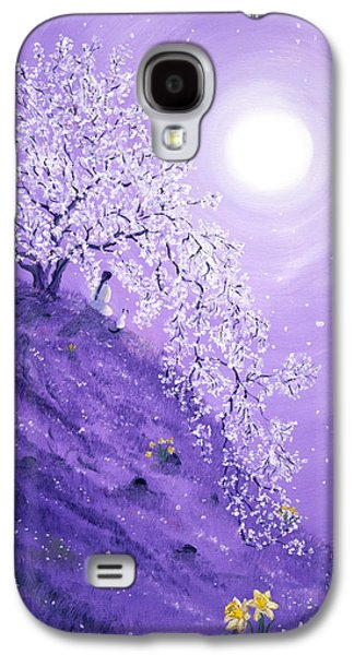 Cherry Blossoms Galaxy S4 Cases - Daffodil Dawn Meditation Galaxy S4 Case by Laura Iverson