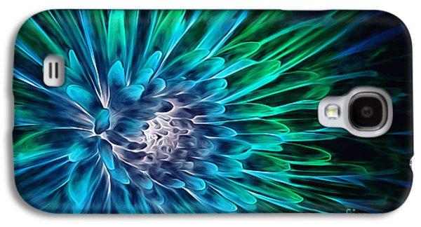 Abstract Digital Art Galaxy S4 Cases - Dahlia Abstract Vibrance Galaxy S4 Case by Mary Lou Chmura