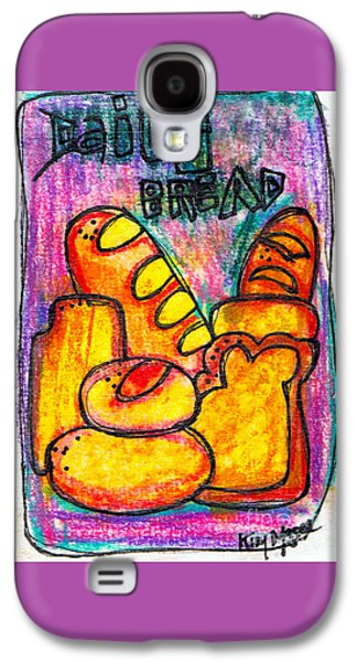 Kim Drawings Galaxy S4 Cases - Daily Bread Galaxy S4 Case by Kim Magee