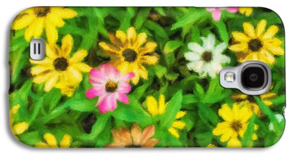Abstract Digital Photographs Galaxy S4 Cases - Daisies Galaxy S4 Case by Jonathan Nguyen