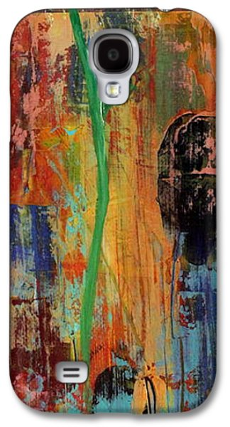 Botanical Galaxy S4 Cases - Daisy #1 Galaxy S4 Case by Lorelle Carr