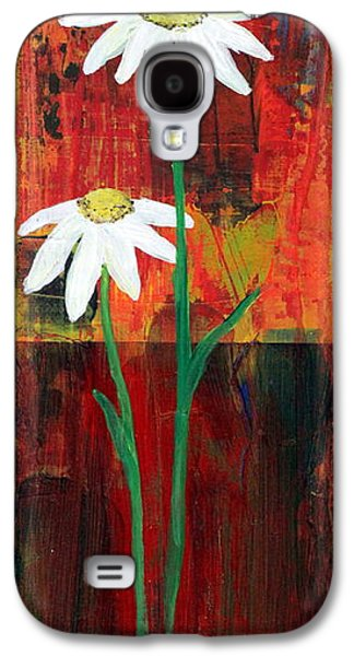 Botanical Galaxy S4 Cases - Daisy #2 Galaxy S4 Case by Lorelle Carr