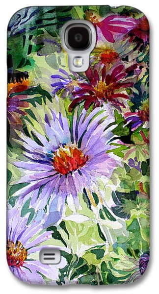 Abstracts Galaxy S4 Cases - Daisy Garden Galaxy S4 Case by Mindy Newman