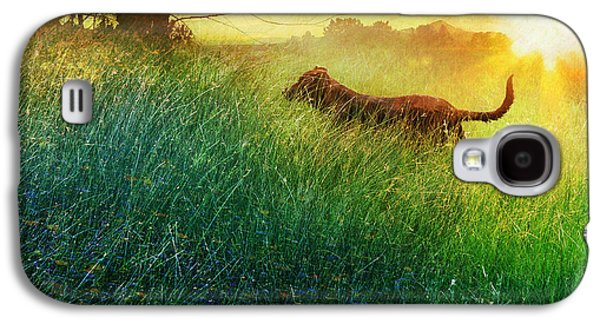 Puppies Digital Galaxy S4 Cases - Daisy Maes Morning Romp Galaxy S4 Case by R christopher Vest