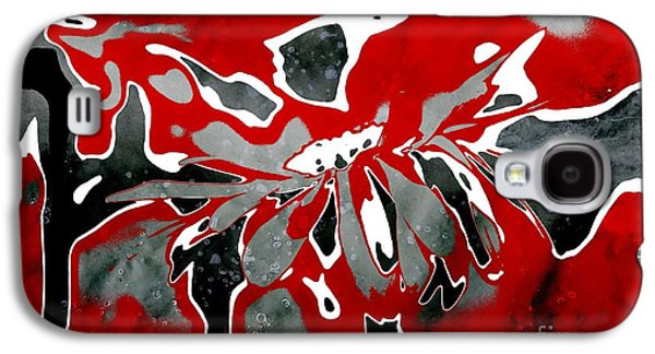 Red Abstracts Digital Galaxy S4 Cases - Daisyday - 55t1b2b Galaxy S4 Case by Variance Collections