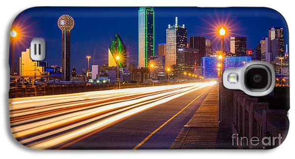 Dallas Lights Galaxy S4 Case by Inge Johnsson