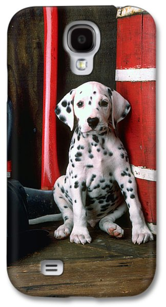 Dalmatian Puppy With Fireman's Helmet  Galaxy S4 Case by Garry Gay