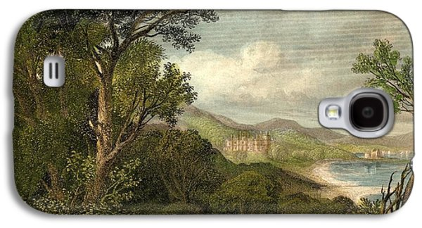 Park Scene Drawings Galaxy S4 Cases - Dalmeny Park, Linlithgow,scotland Galaxy S4 Case by Ken Welsh