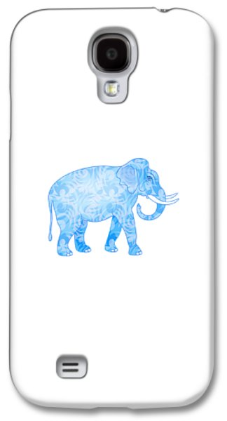 Damask Pattern Elephant Galaxy S4 Case by Antique Images