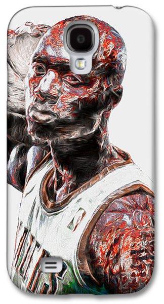 Damian Lillard Portland Trailblazers Digital Painting 25 Galaxy S4 Case by David Haskett