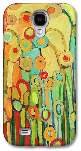 Abstract Nature Paintings Galaxy S4 Cases - Dance of the Flower Pods Galaxy S4 Case by Jennifer Lommers