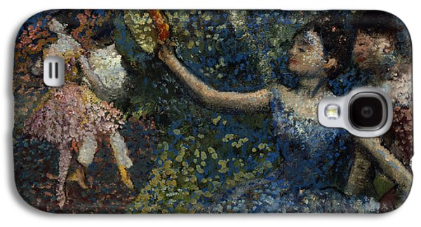 Tutus Paintings Galaxy S4 Cases - Dancer with a Tambourine Galaxy S4 Case by Edgar Degas