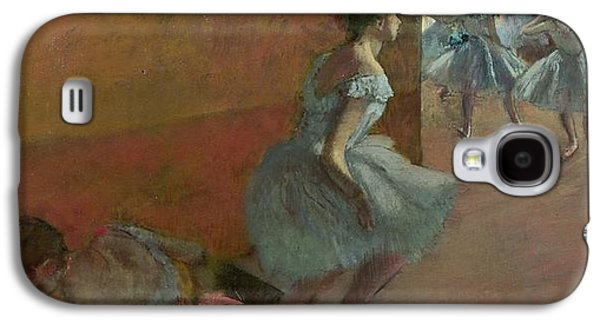 Ballerina Paintings Galaxy S4 Cases - Dancers Ascending a Staircase Galaxy S4 Case by Edgar Degas