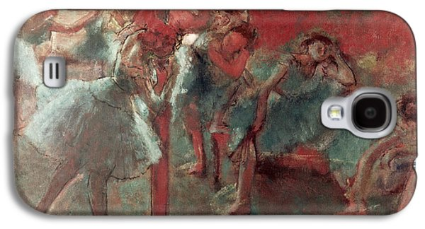 Tutus Paintings Galaxy S4 Cases - Dancers at Rehearsal Galaxy S4 Case by Edgar Degas