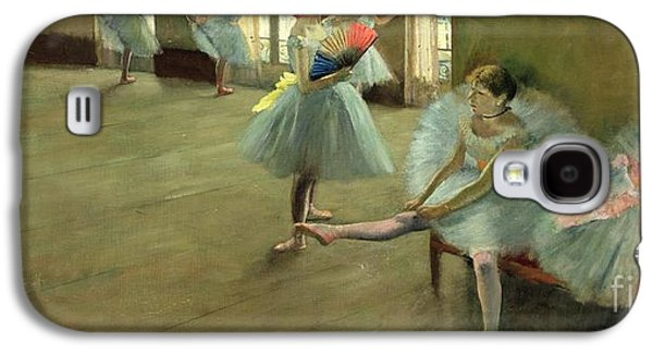 Dancers In The Classroom Galaxy S4 Case by Edgar Degas