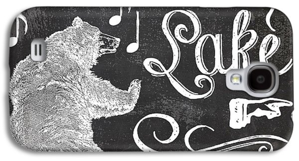 Dancing Bear Lake Rustic Cabin Sign Galaxy S4 Case by Mindy Sommers