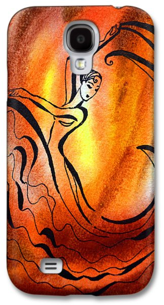 Abstractions Galaxy S4 Cases - Dancing Fire I Galaxy S4 Case by Irina Sztukowski