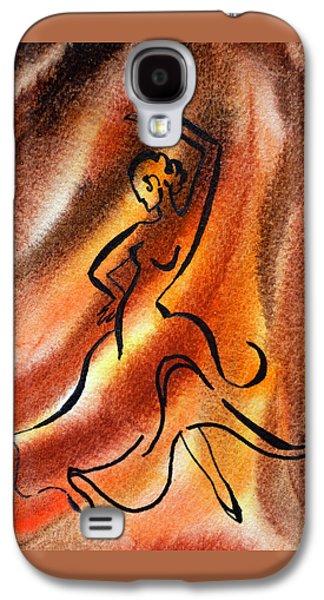Abstract Movement Galaxy S4 Cases - Dancing Fire III Galaxy S4 Case by Irina Sztukowski