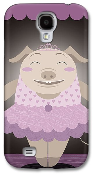 Piglets Paintings Galaxy S4 Cases - Dancing pig Galaxy S4 Case by Pablo Romero