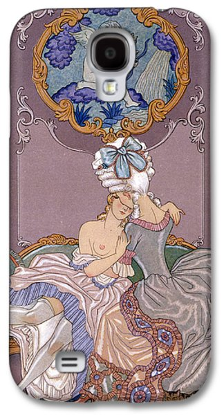 Lesbian Paintings Galaxy S4 Cases - Dangerous Liaisons Galaxy S4 Case by Georges Barbier