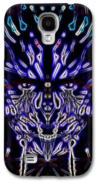 Slaves Galaxy S4 Cases - Dark Blue Entangled Galaxy S4 Case by Michael African Visions