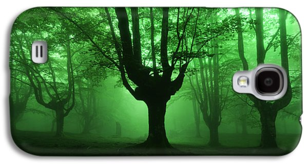 Surreal Landscape Galaxy S4 Cases - Dark Forest Galaxy S4 Case by Mikel Martinez de Osaba