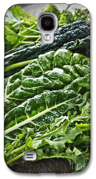 Cutting Galaxy S4 Cases - Dark green leafy vegetables Galaxy S4 Case by Elena Elisseeva