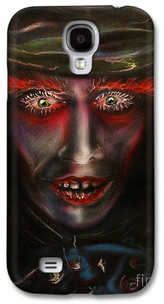 Mad Hatter Paintings Galaxy S4 Cases - Dark Hatter Galaxy S4 Case by John Sodja