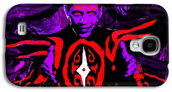 Barrack Obama Galaxy S4 Cases - Dark Obamatar Galaxy S4 Case by Andrew Kaupe