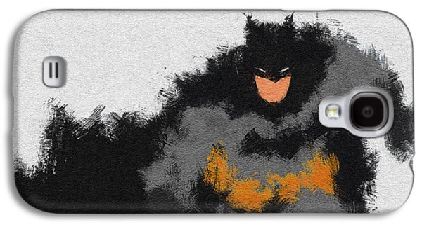 Character Portraits Paintings Galaxy S4 Cases - Dark Wayne Galaxy S4 Case by Miranda Sether