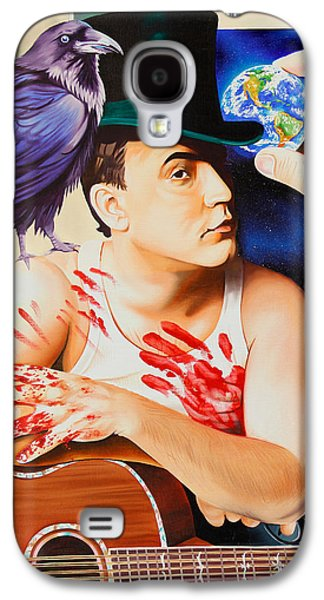 The Dave Matthews Band Paintings Galaxy S4 Cases - Dave Matthews-Raven Galaxy S4 Case by Joshua Morton